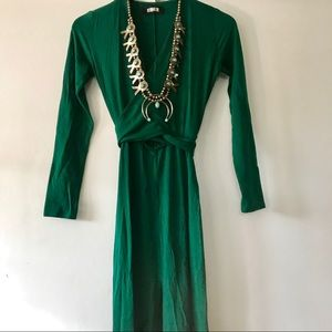 Reformation Green Jersey Maxi Dress